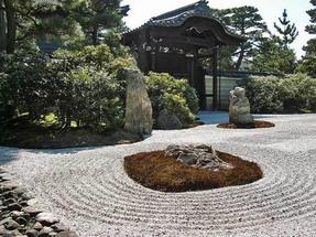 Рельеф в японском стиле применяется